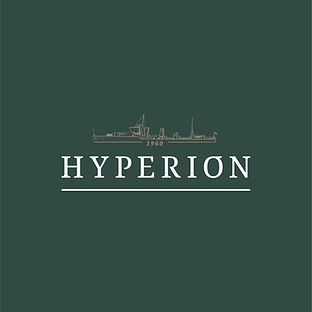 Hyperion Auctions in St Ives Logo created by Adam at Signpost Media