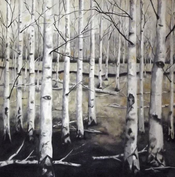 Stories told by trees - oil on canvas