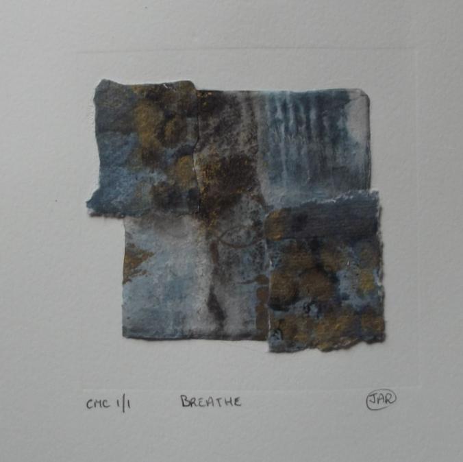 Breathe - colograph, monoprint & collage