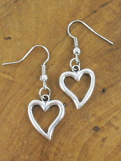 Suzie Blue heart earrings