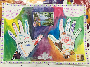 Art therapy, Ladies group, Extended Hand