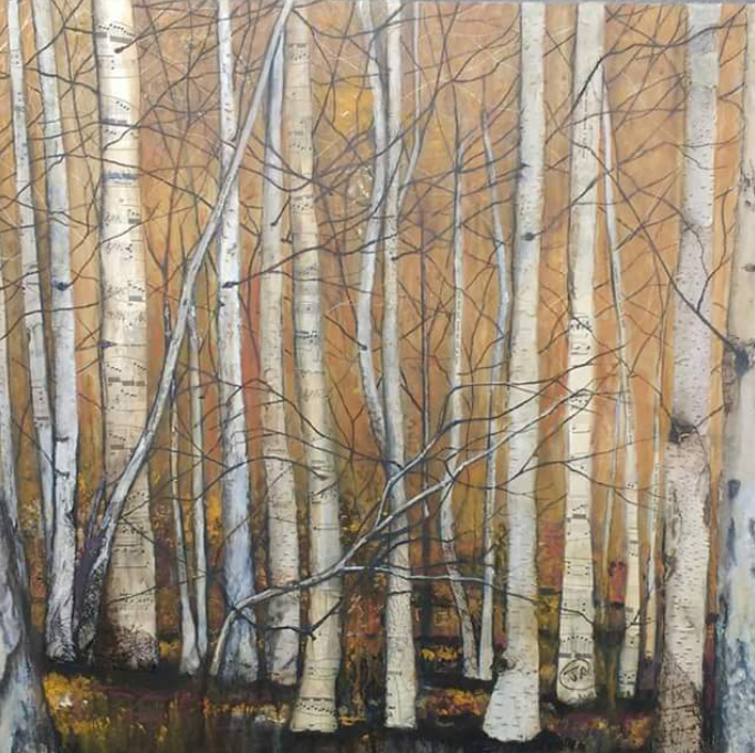 Woodland - mixed media