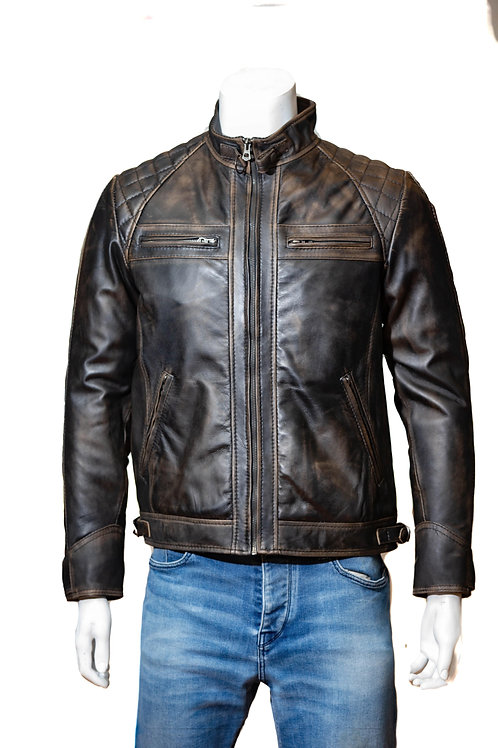 McQueen Antigue Washed Leather Jacket
