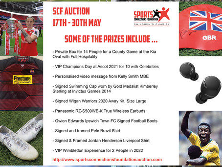Sports Connections Foundation launch their Summer Online Auction just in time for Father's Day
