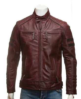 Wolverine Mens Bordeaux Leather Jacket