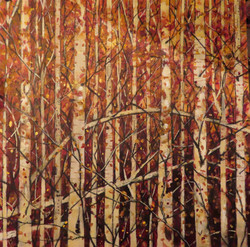 Autumn overture mixed media collage on c