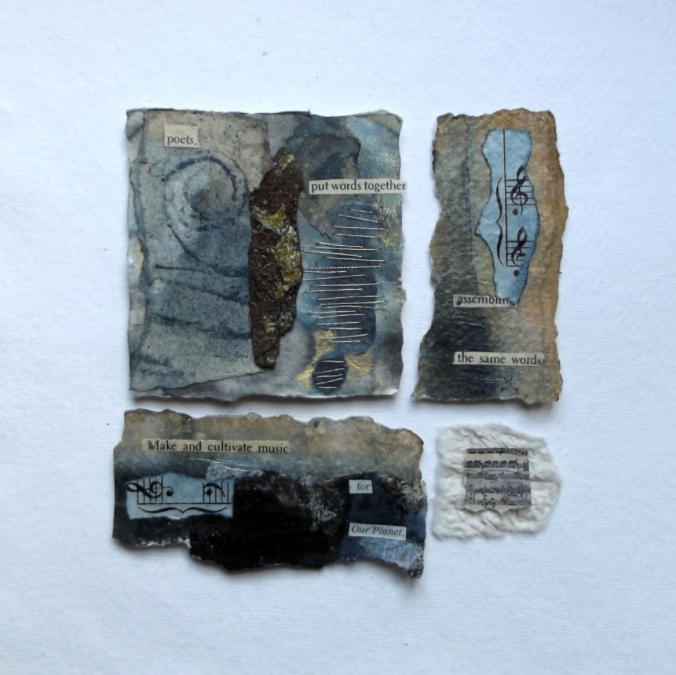 Earth poem ll mixed media collage
