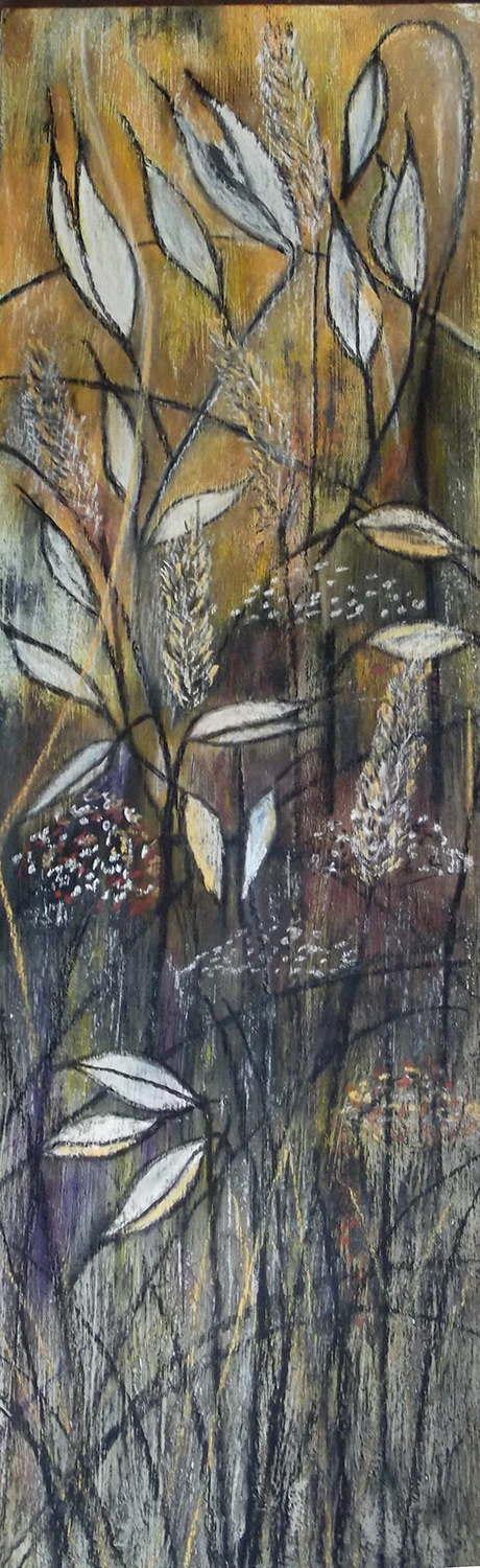 Seeds pastel and charcoal drawing SOLD