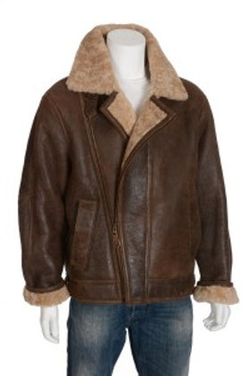 Rocky Antique Brown Mens Leather Flying Jacket