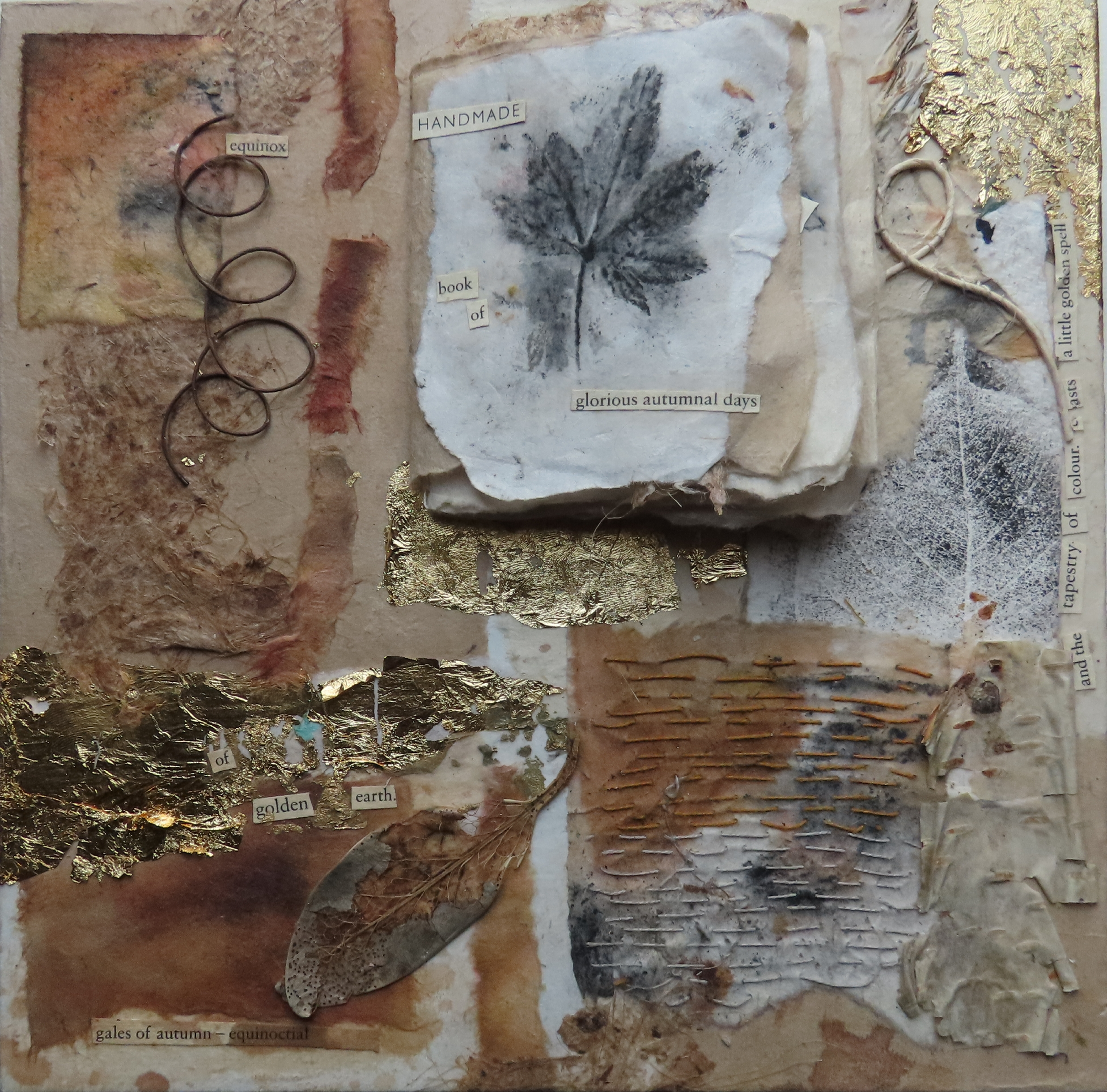 AUTUMN STORY  mixed media collage and bo