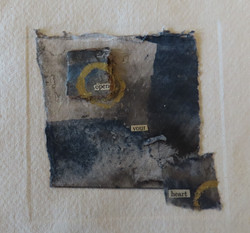 Open - mixed media, collograph and book.