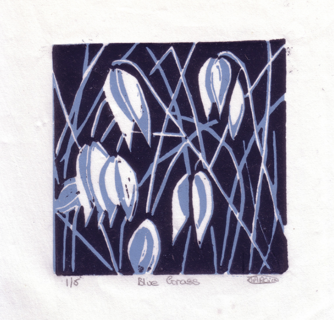 Blue grass Lino cuts SOLD