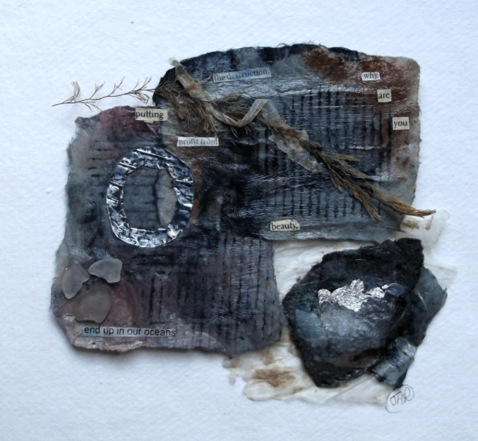Earth poem lV mixed media collage - SOLD