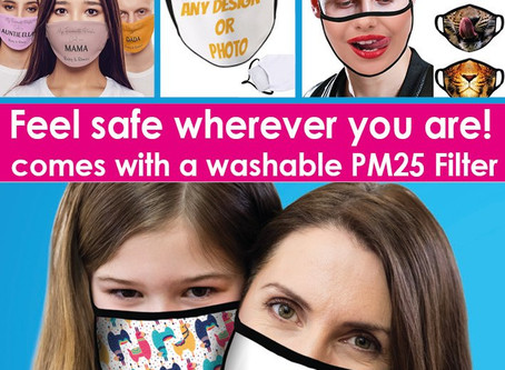 Order Your Personalised Covid-19 Face Mask Today