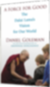 The Book called A Force For Good by Daniel Goleman. A world envisioned by the Dalai Lama
