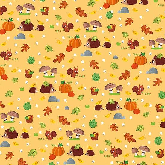 Tissu à motifs automne