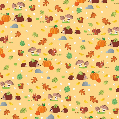 "Tissu à motifs ""automne"""