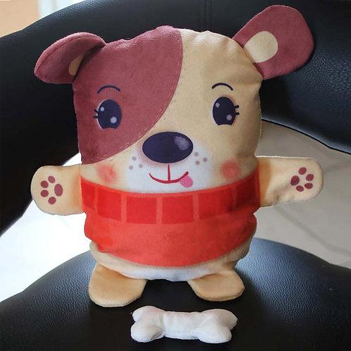 Doudou chien à coudre