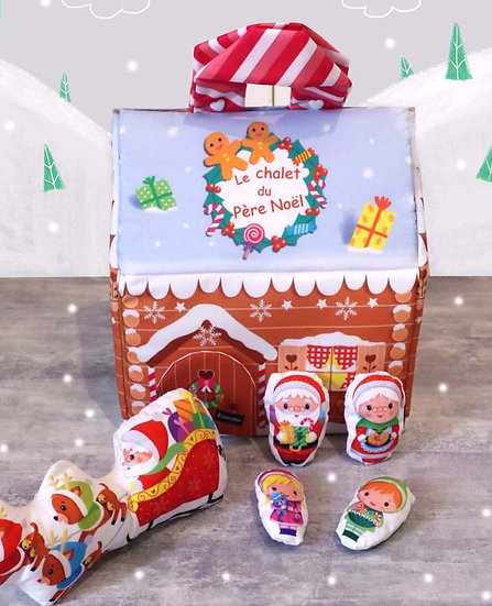 Chalet du Père Noël à coudre