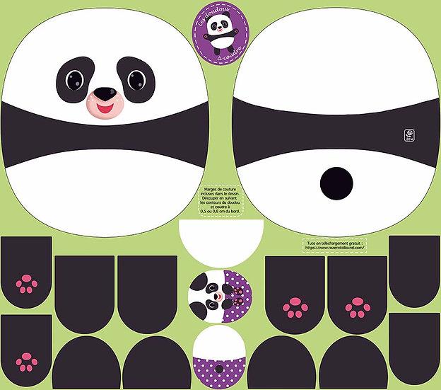 Doudou panda à coudre