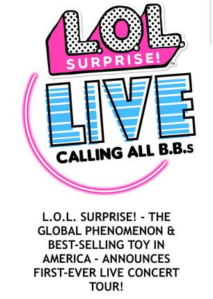 L.O.L. Surprise! Announces First-Ever Live Concert Tour!