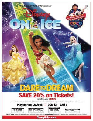 Get Your Mom Discount for Discover Your Inner Hero at Disney On Ice presents Dare To Dream Skating i