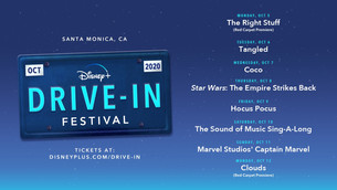 REV YOUR ENGINES: THE DISNEY+ DRIVE-IN FESTIVAL PULLS INTO SANTA MONICA OCTOBER 5-12, 2020!