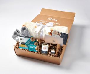 "Rubio's ""Peace, Joy & Burritos"" gift box!"