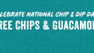 Rubio's Offers Free Chips & Guacamole for NationalChip& Dip Day: March 22 & 23!