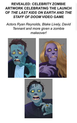 Celebrity Zombie Artwork for Last Kids On Earth Revealed
