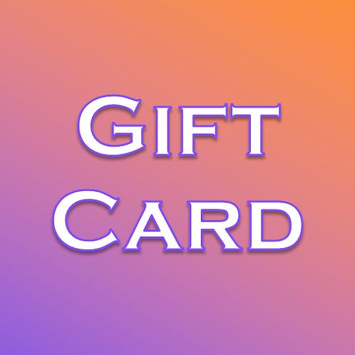 Printable Electronic Gift Card
