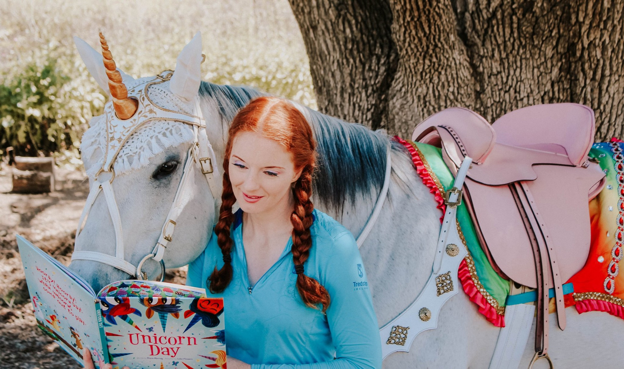 Unicorn Reading / Library Show Zoom Call
