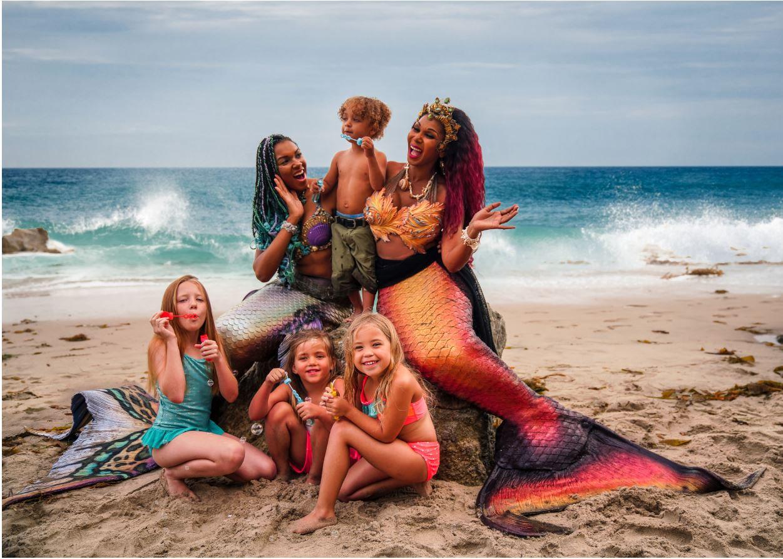 Mermaid on the Beach Photo Shoot
