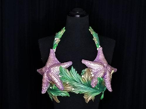 Lavender purple little mermaid ariel mermaid bra top rental - starfish and seaweed by Siren Allure Los Angeles costume rental