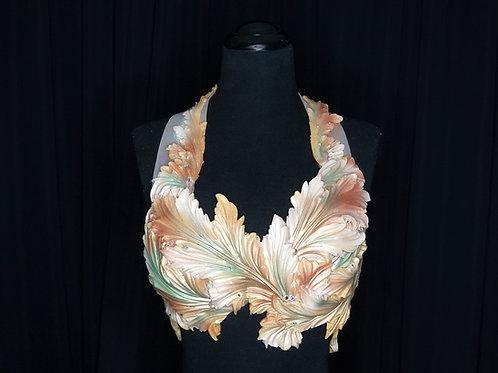 Gold luxury mermaid bra top costume rental from Los Angeles by Siren Allure