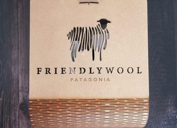 Caja de lujo desarmable de madera para 4 ovillos.