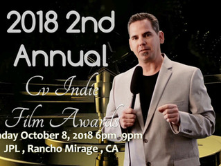 Gina Carey Films Presents 2018 2nd Annual CV Indie Film Awards to be held at JPL in Rancho Mirage