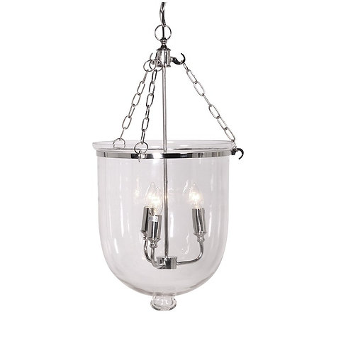 Nickel/Glass Ceiling Light