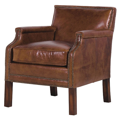 Montaigne Leather Club Chair