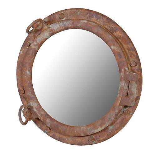 Distressed Porthole Mirror