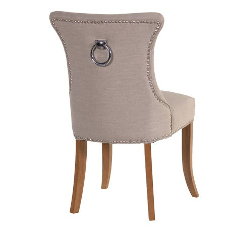 Ivory Studded Chair With Ring