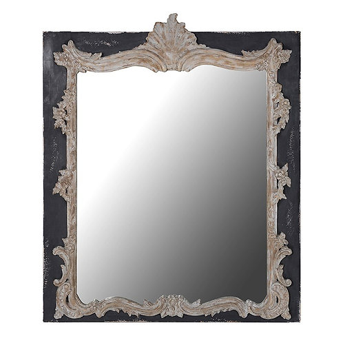 Carved Effect Rectangular Mirror