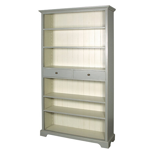 Shaker Grey Bookcase With Drawers