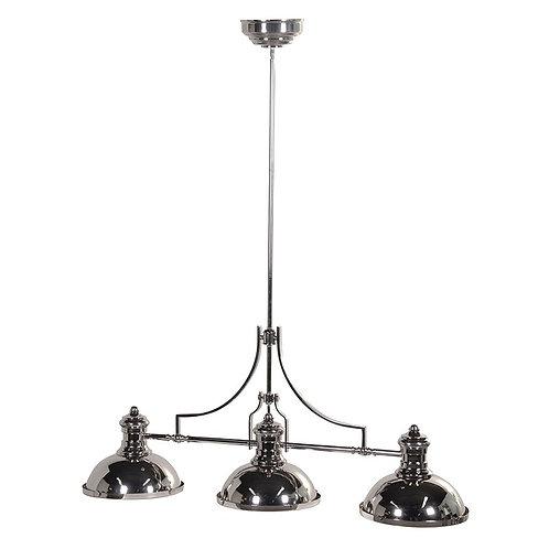 Silver Finish 3 Lamp Pendant