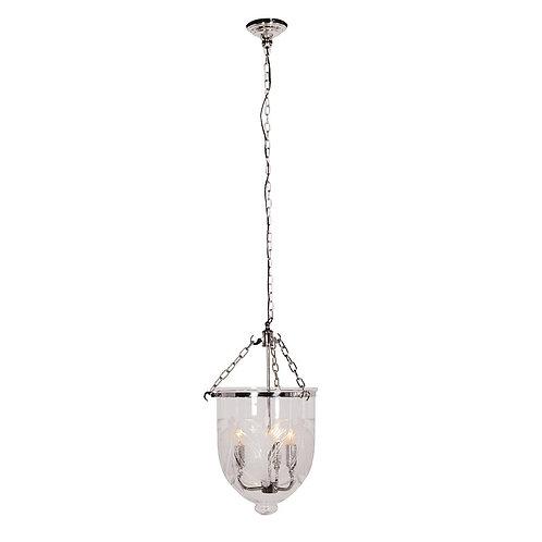 Nickel/Cut Glass Ceiling Light