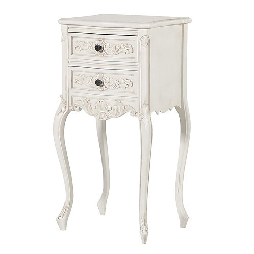 Louis Philippe 2 Drawer Bedside Table