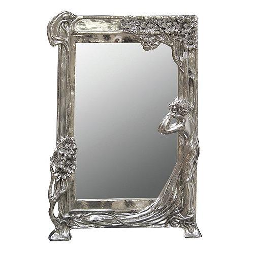 Art Nouveau Lady Mirror