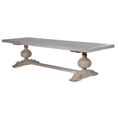 Rectangular Wooden Table with Motifs