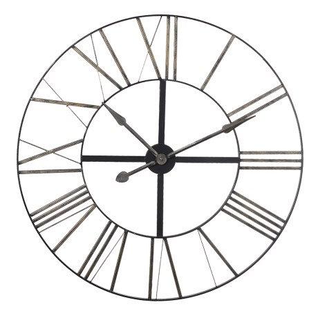 Black Metal Skeleton Clock