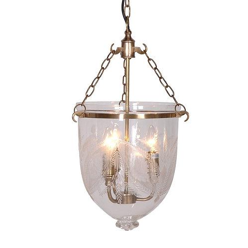 Brass/Glass Ceiling Light